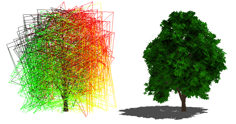 ... For The Foliage. The Method Preserves The Parallax Effects Of The  Original Polygonal Model, The Overlapping Of The Leaves And Provides High  Definition ...